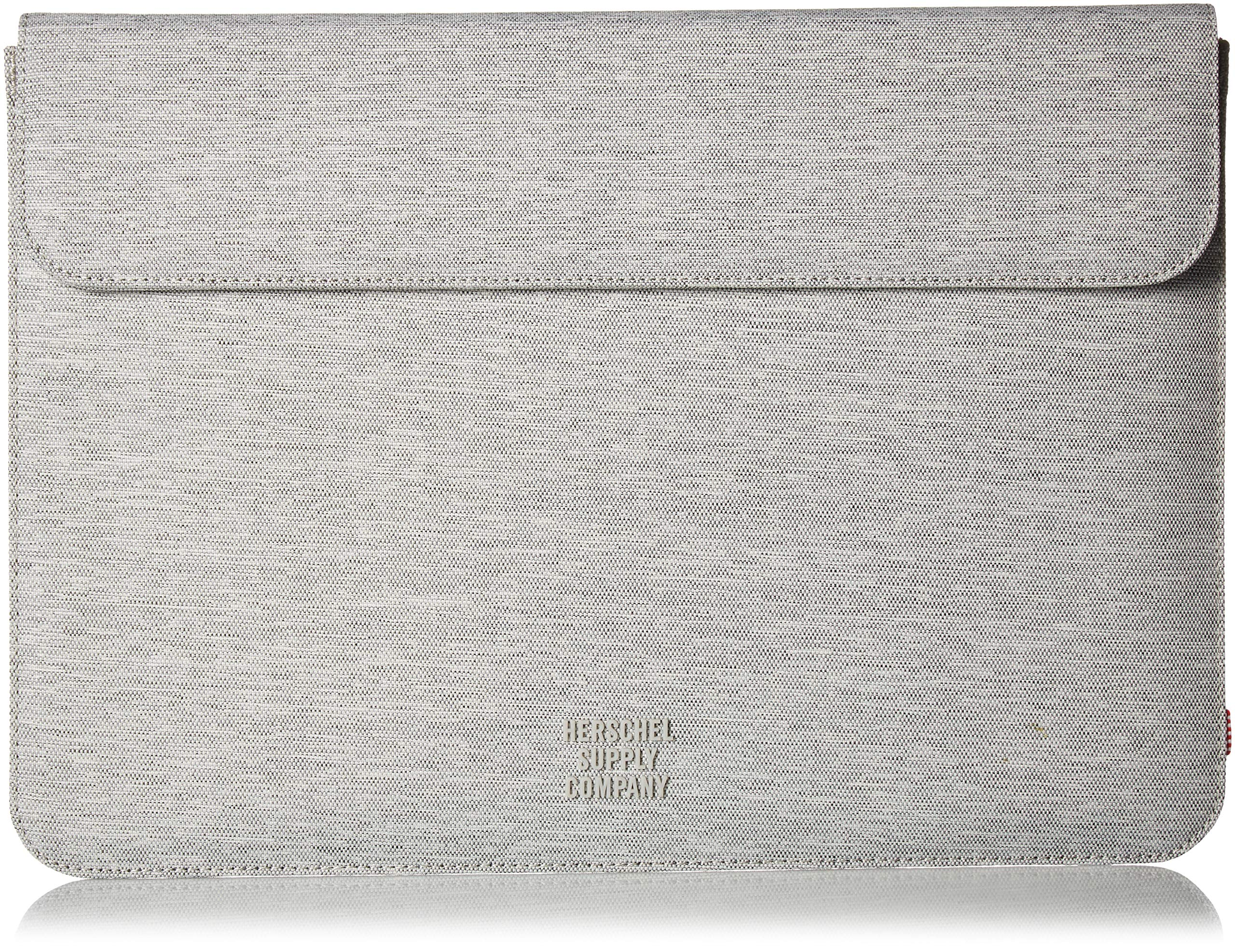 Herschel Supply Co. Men's Spokane Sleeve for 13 inch MacBook, light grey crosshatch, One Size