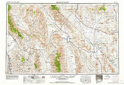 Amazon.com : YellowMaps Death Valley CA topo map, 1:250000 Scale, 1 ...