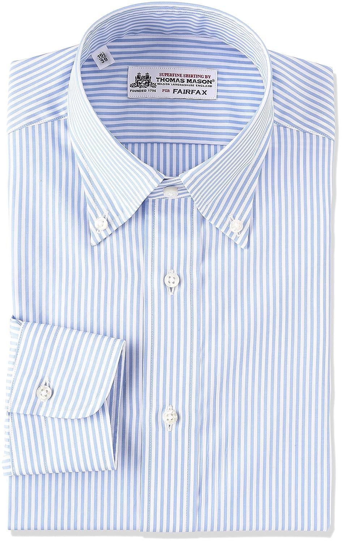 (フェアファクス) FAIRFAX(フェアファクス) 細ロンドンストライプボタンダウンシャツ B01NBIB1K7 日本 42-(日本サイズL相当)|サックス サックス 日本 42-(日本サイズL相当)