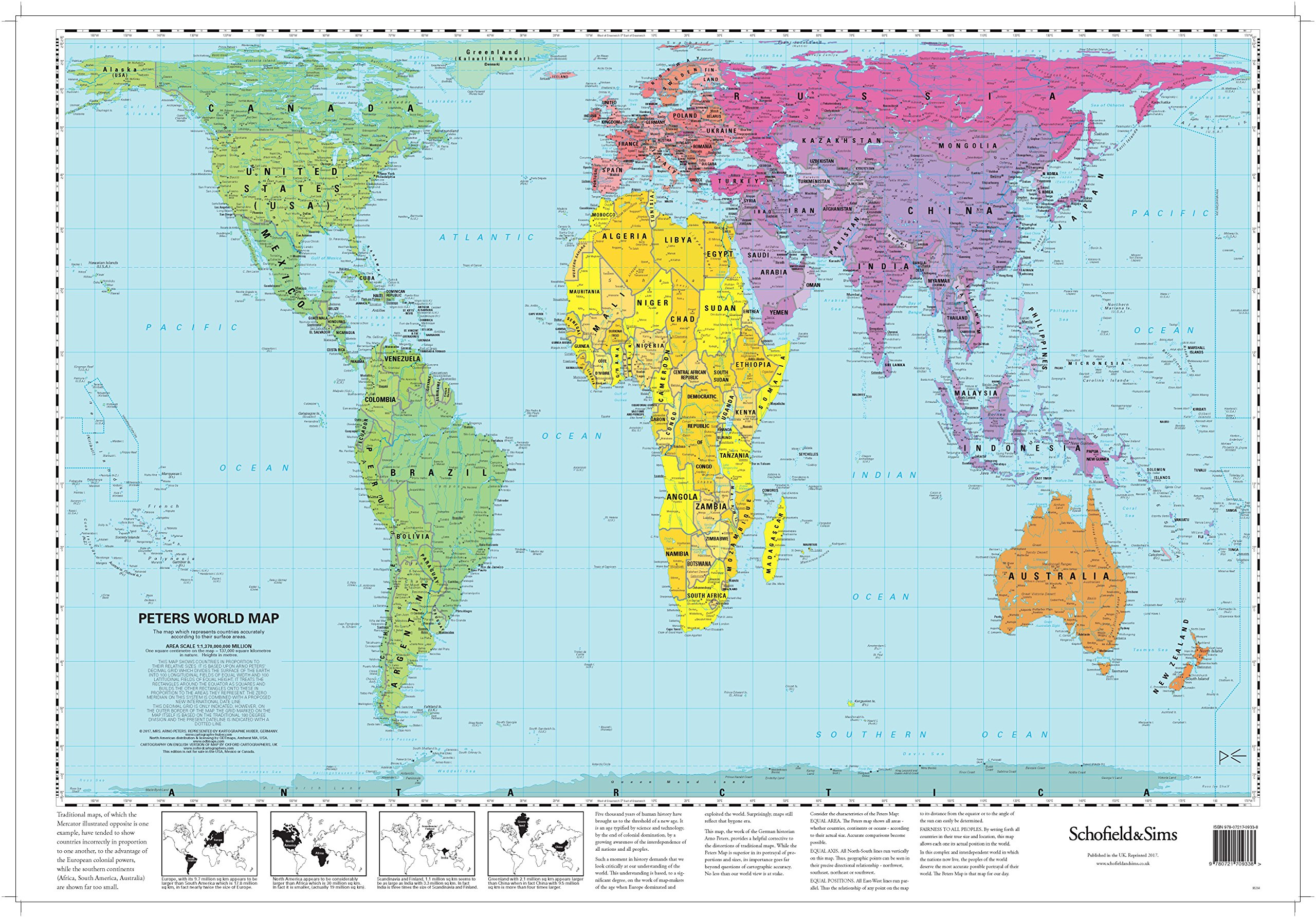 Peters World Map Laminated Poster Schofield Sims