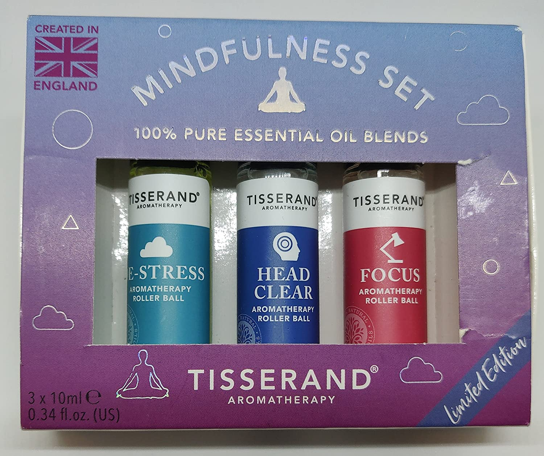 Tisserand – Aromaterapia Anti-Stress, cabeza clara y Focus Kit de punta redonda, 10 ml, Mindfulness, pack de 3: Amazon.es: Salud y cuidado personal