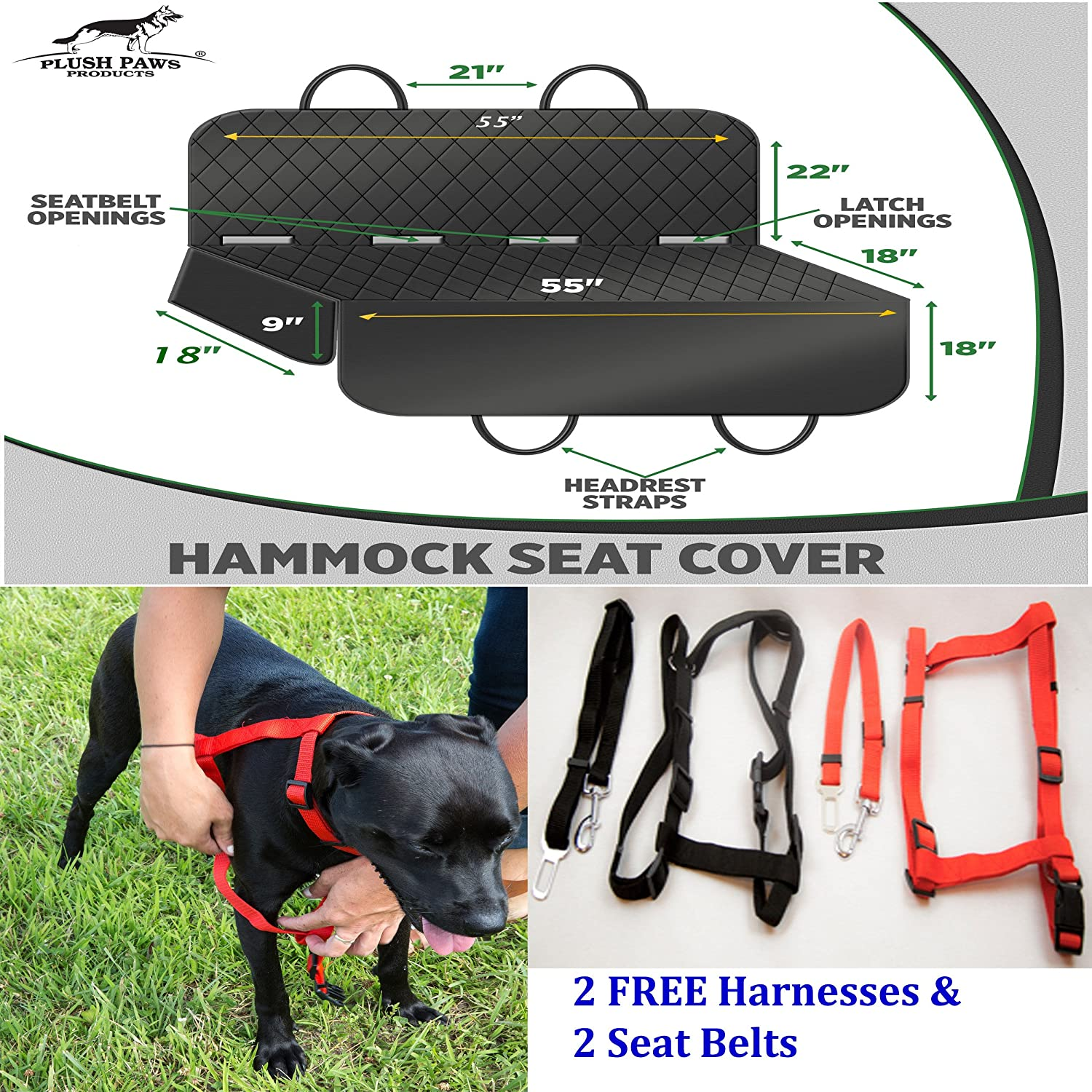 Pet Seat Cover With Anchors