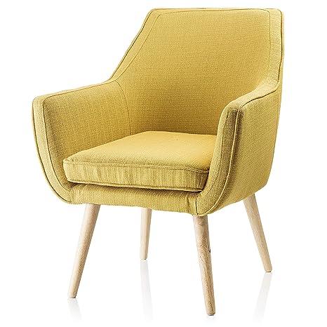Montemaggi Florenz-Sessel in Stoff gelb Ocker: MainApps ...