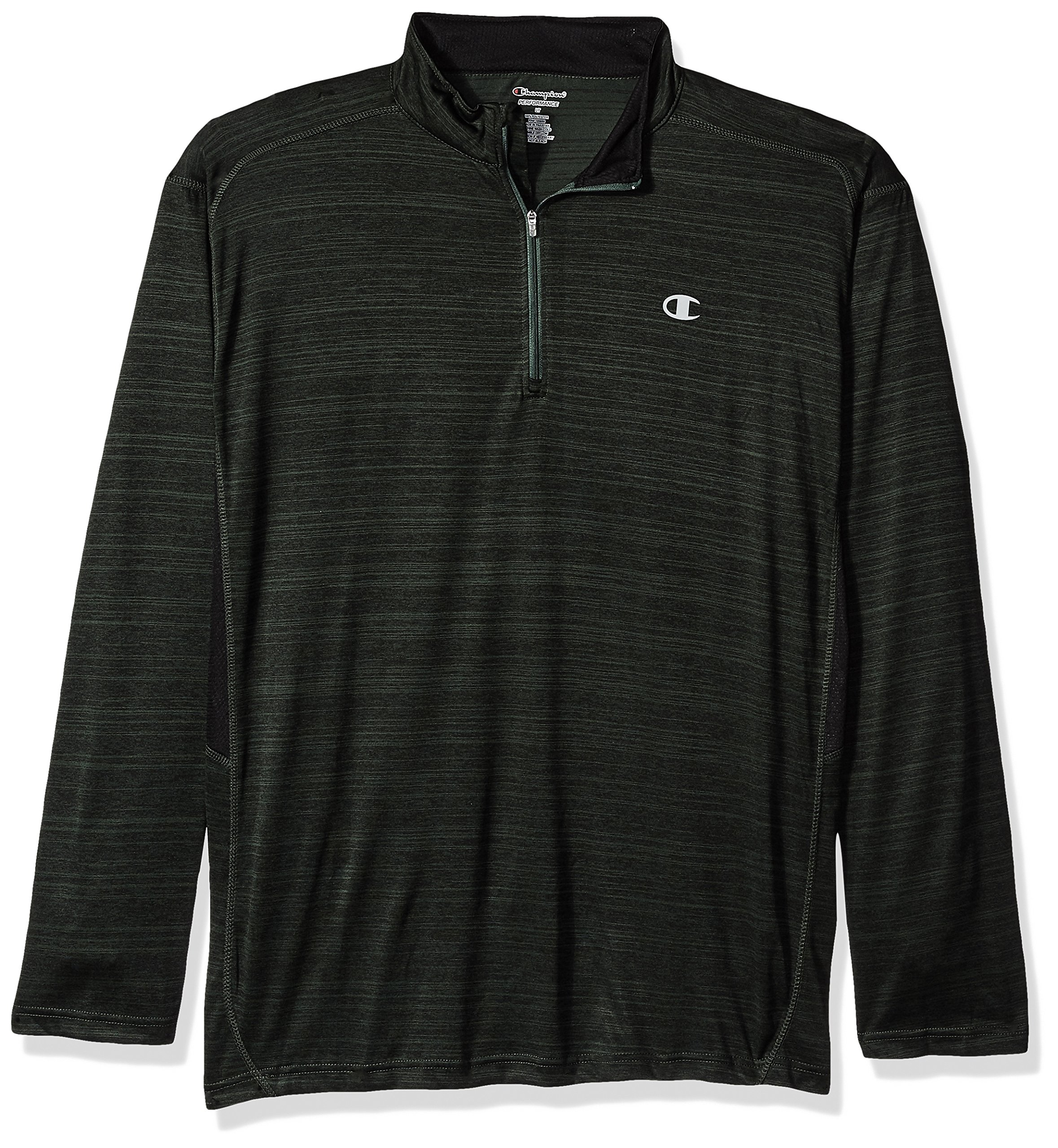 Champion Men's Big and Tall 1/4 Zip Pullover with Lc c, Forest/Black, LT by Champion