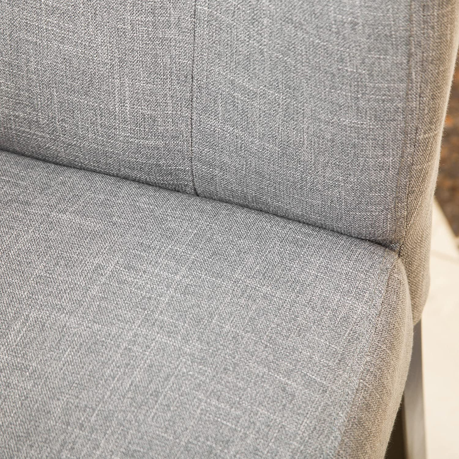 Amazon Leighton Grey Fabric Dining Chairs Set of 2 Chairs