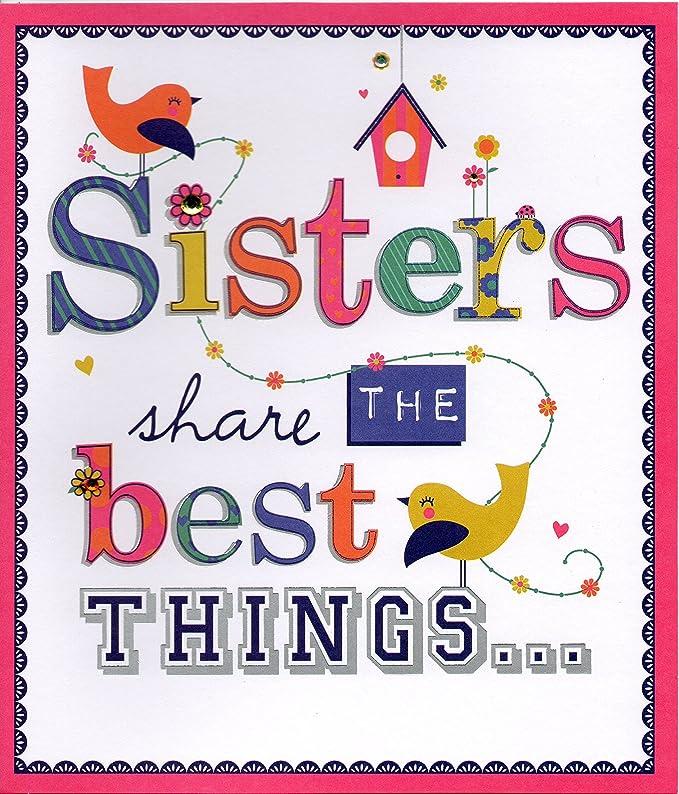 Tarjeta de cumpleaños hermanas comparten las mejores cosas ...