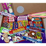 Retro Sweet Gift Hamper - A Brilliant Letterbox Busting Sweet Box Filled With 42 Classic Childrens Sweets. An Old Fashioned Selection From Sweet Experience Perfect for Birthdays, Congratulations, Christmas or any Occasion