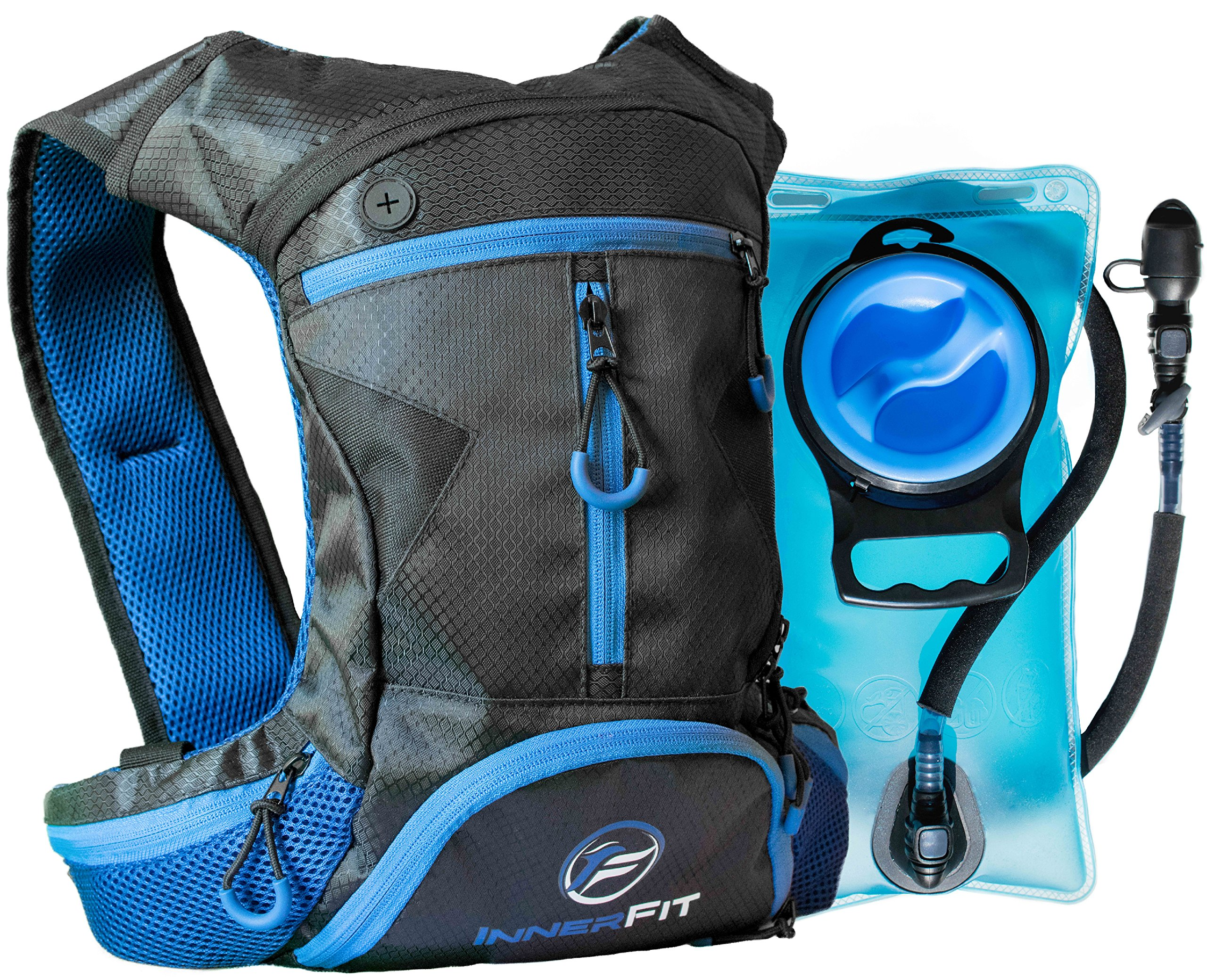 InnerFit Camel Backpack Hydration Pack with 1.5L Water Bladder for The Organized Outdoors Adventurer – Highly Durable – Versatile & Lightweight Hydration Backpack