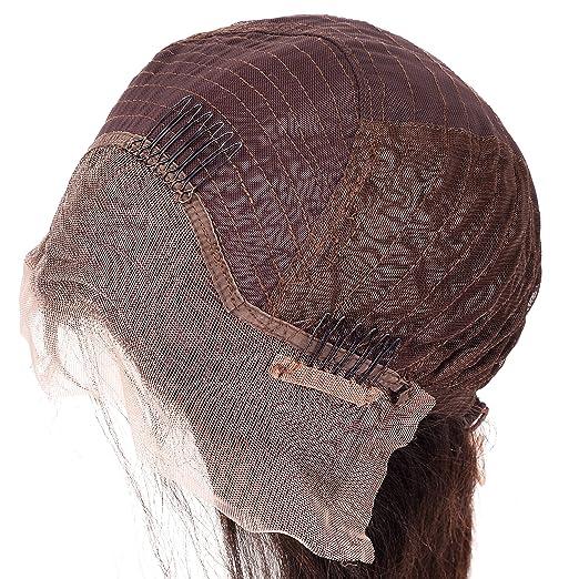 Lordhair 100% Cabello Humano Indio Peluca de Frente del Cordón Color de La Onda del Cuerpo 1B # (16 pulgadas): Amazon.es: Belleza