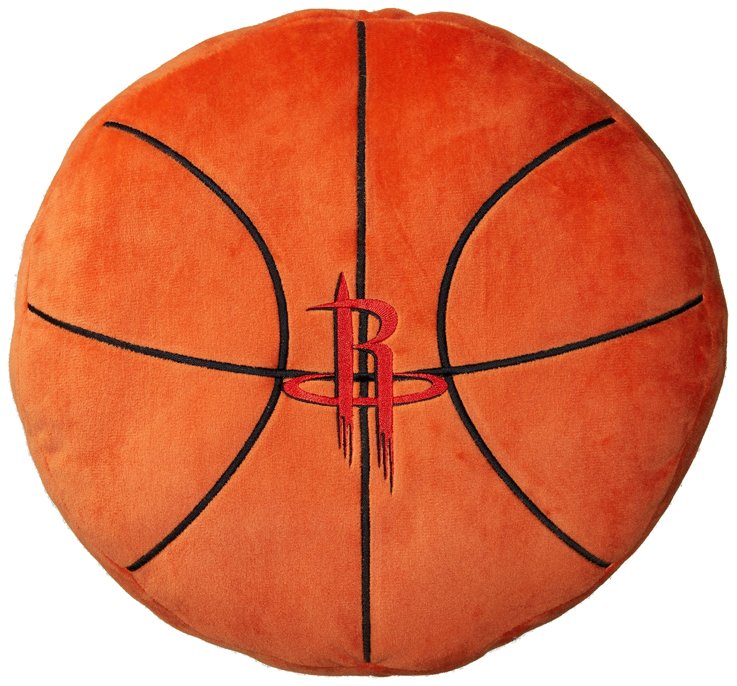 Officially Licensed NBA Chicago Bulls ''3D'' Basketball Shaped Pillow, Orange, 15'' x 15'' x 2'' by The Northwest Company