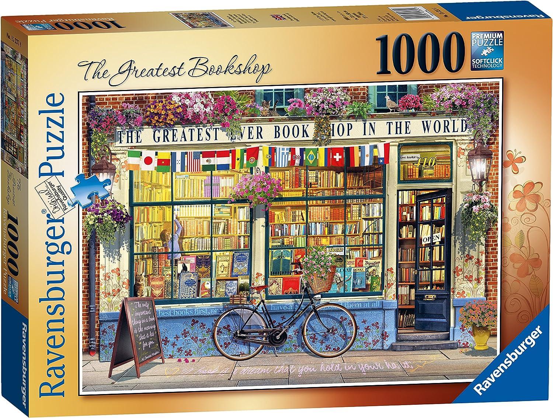 Ravensburger The Greatest Bookshop 1000 Piece Jigsaw Puzzle [Importación inglesa]