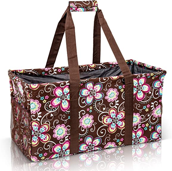 Extra Large Utility Tote Bag Oversized Collapsible Pool Beach Canvas Basket