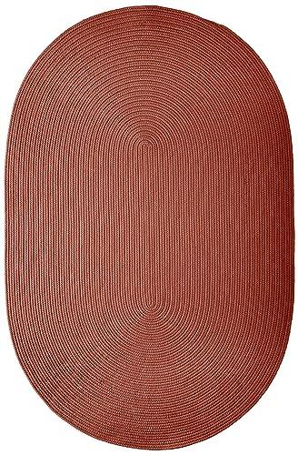 Boca Raton Polypropylene Braided Rug, 4-Feet by 6-Feet, Terracotta