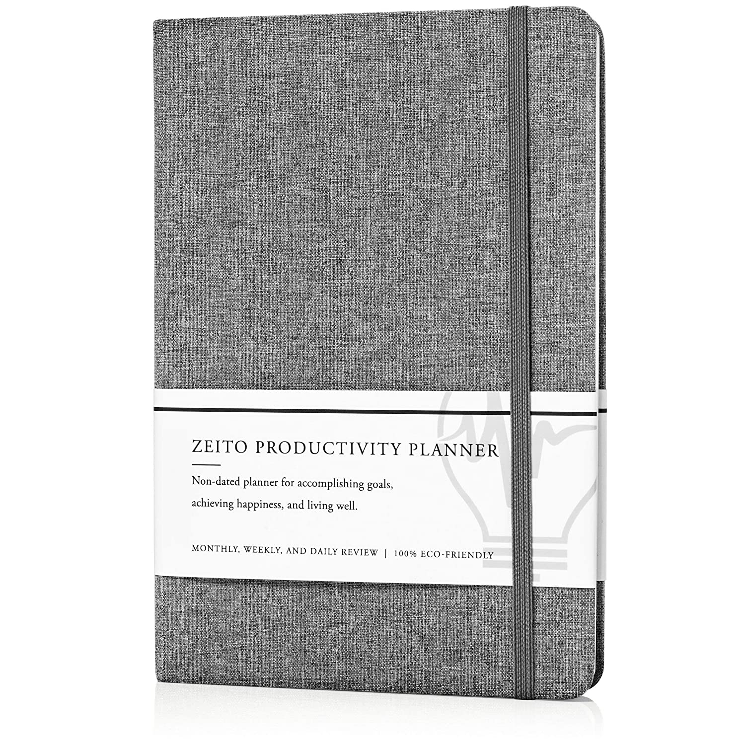 Zeito Productivity Planner - Best Undated Monthly, Weekly, and Daily Agenda Planner for Increasing Motivation, Accomplishing Goals, and Living Well in ...