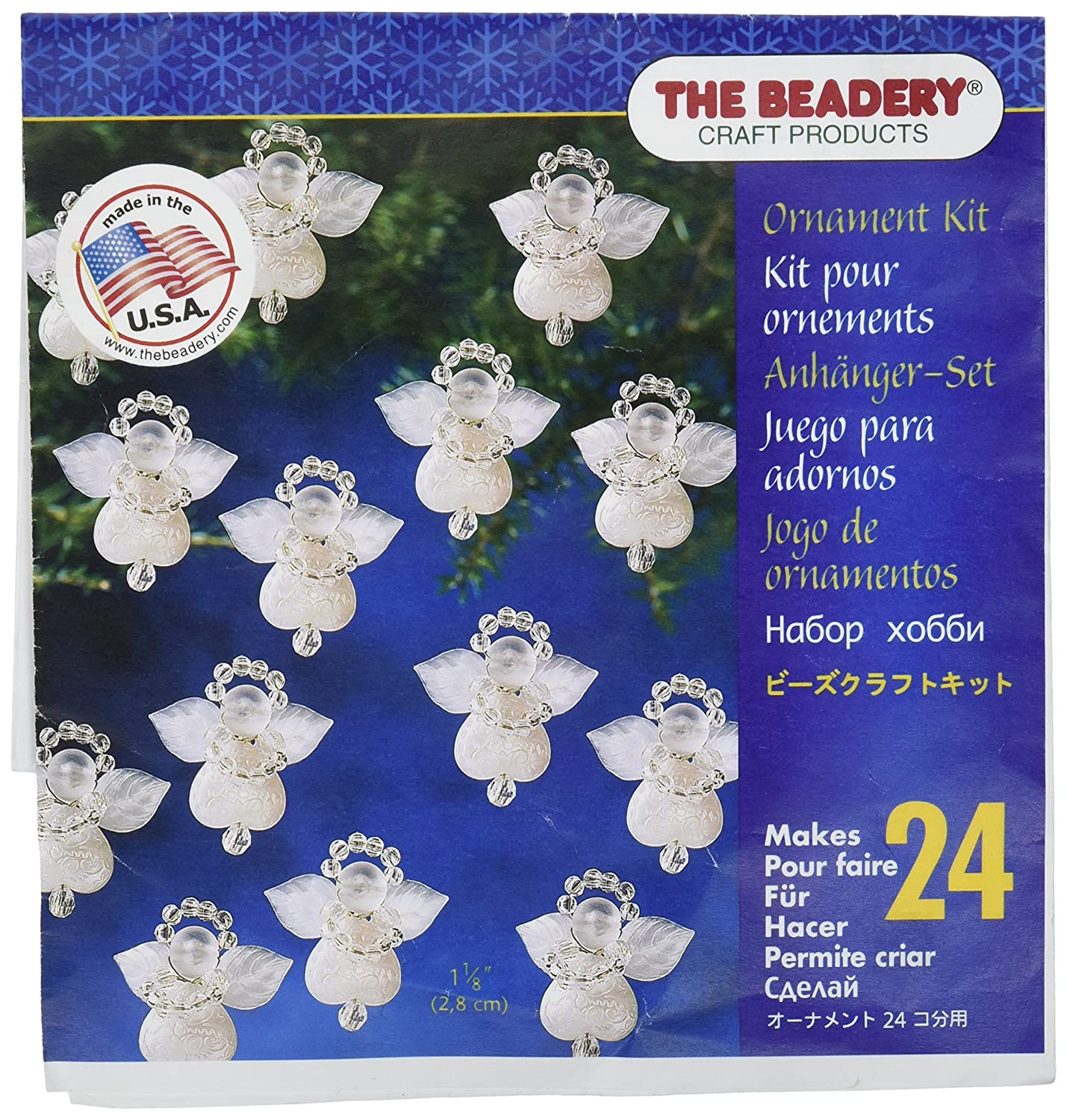 Beadery Holiday Beaded Ornament Kit, 1.125-Inch, Littlest Angel, Makes 24 Ornaments (BOK-5669) Darice BDR884617