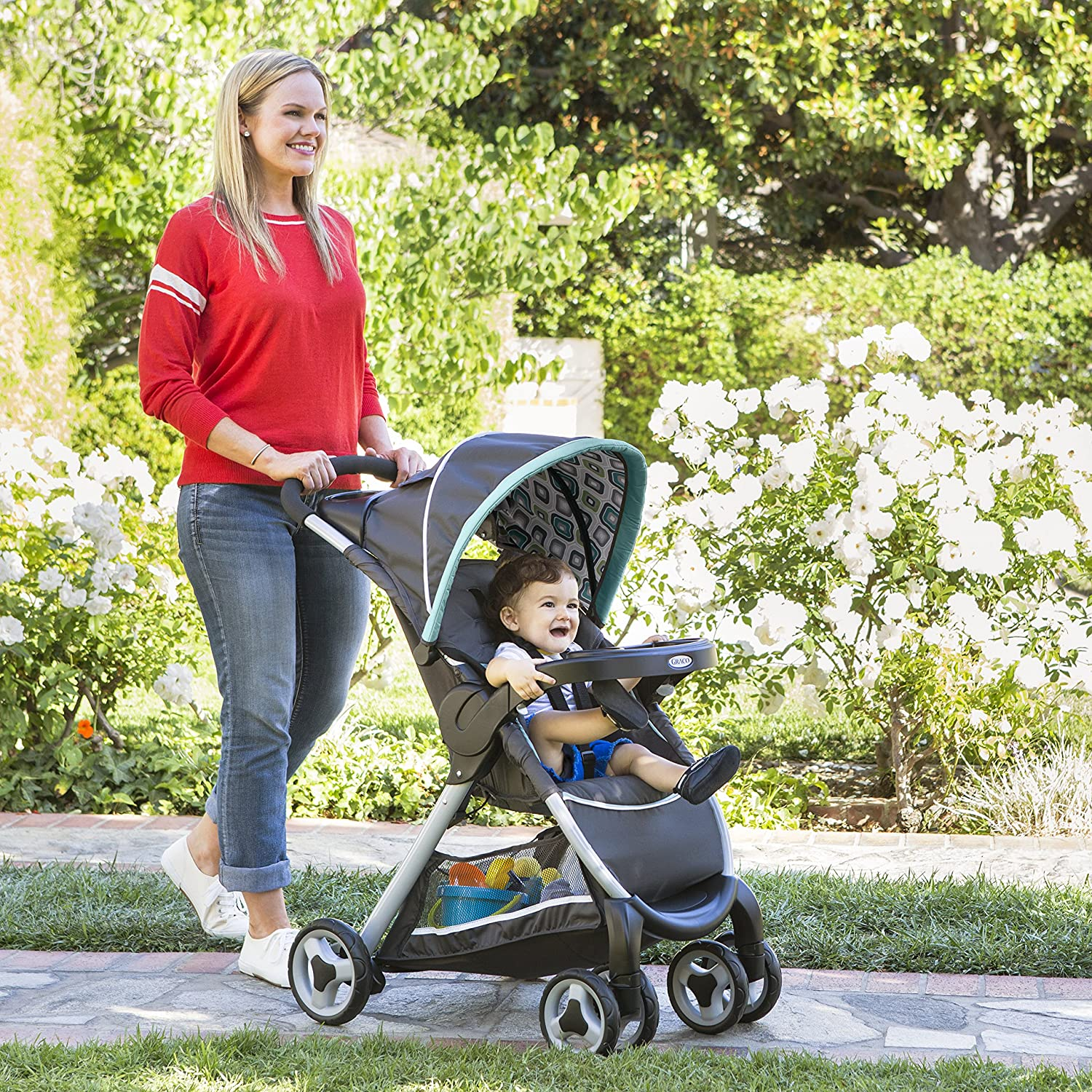 Graco FastAction Fold Travel System Affinia Stroller and Car Seat