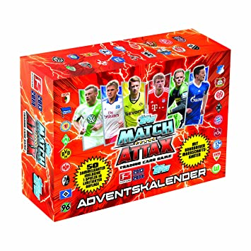 Match Attax Weihnachtskalender.Topps Match Attax Advent Calendar 2013 To00171 2014 Amazon Co Uk