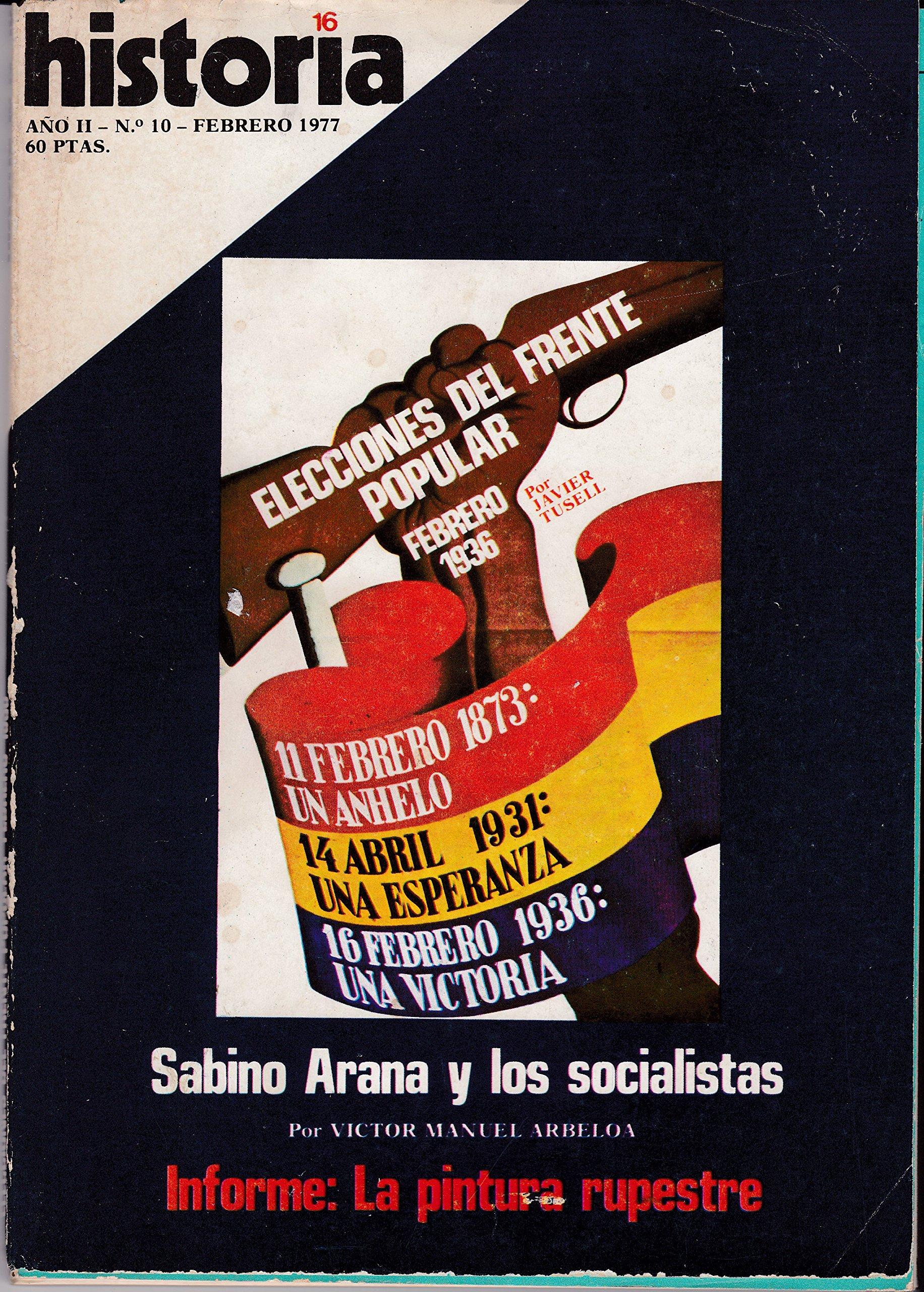 Historia 16. Elecciones Del Frente Popular Febrero De 1936: Amazon ...