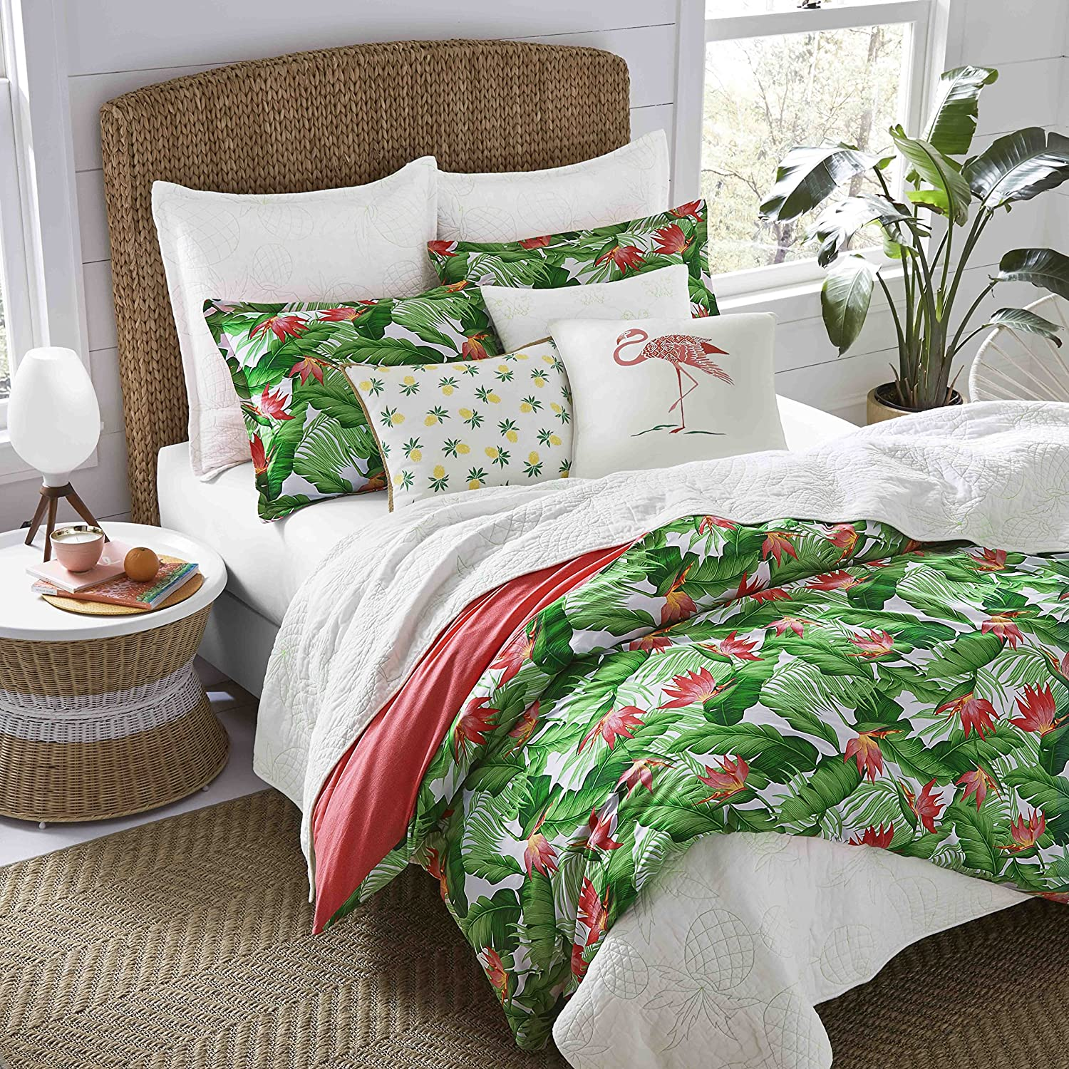 Nine Palms 223901 Del Carmen Comforter Set King Bright Green