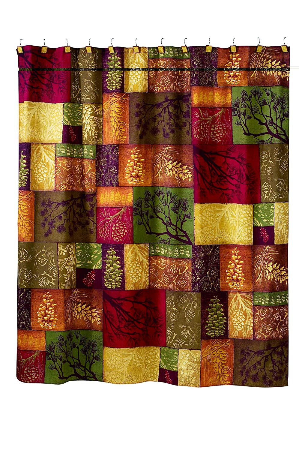 Amazon Avanti Linens Adirondack Pine72 X 72 Shower Curtain Multi Colored Home Kitchen