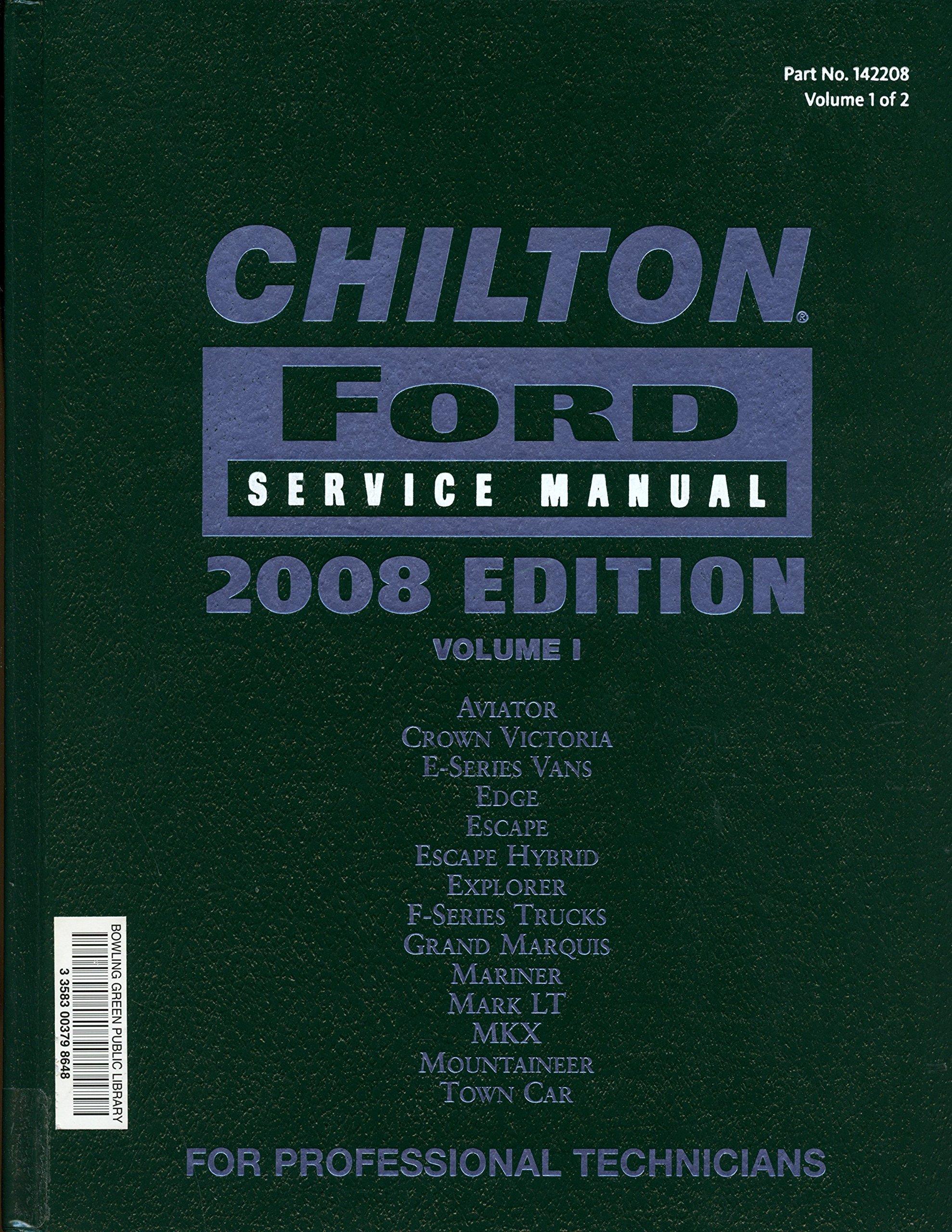 Chilton Ford Service Manual, Vol. 1: Unknown: 9781428322097: Amazon.com:  Books