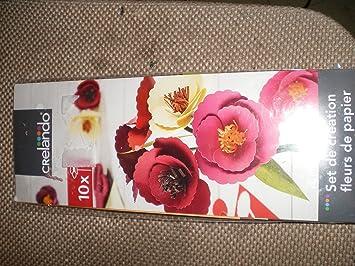 Set De Creation De Fleurs De Papier Amazon Fr Jeux Et Jouets