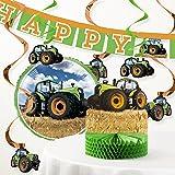 Amazoncom Green Tractor Birthday Party Invitations for Boys Farm