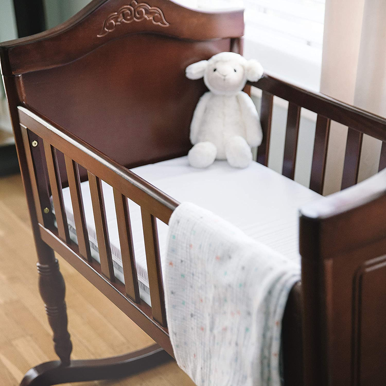 Babydoll Bedding Bassinet Mattress white 13x29x2 Size