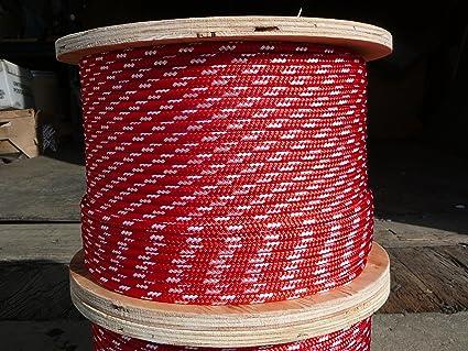 "NovaTech XLE Halyard Sheet Line Dacron Sailboat Rope 1//4/"" x 100/' White//Green"