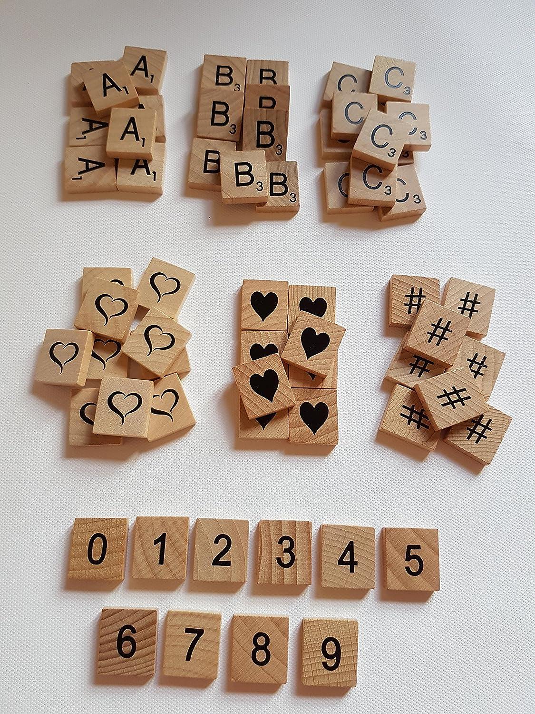 Fichas de madera con letras, elige y mezcla tu elección, calidad madera suave.: Amazon.es: Hogar