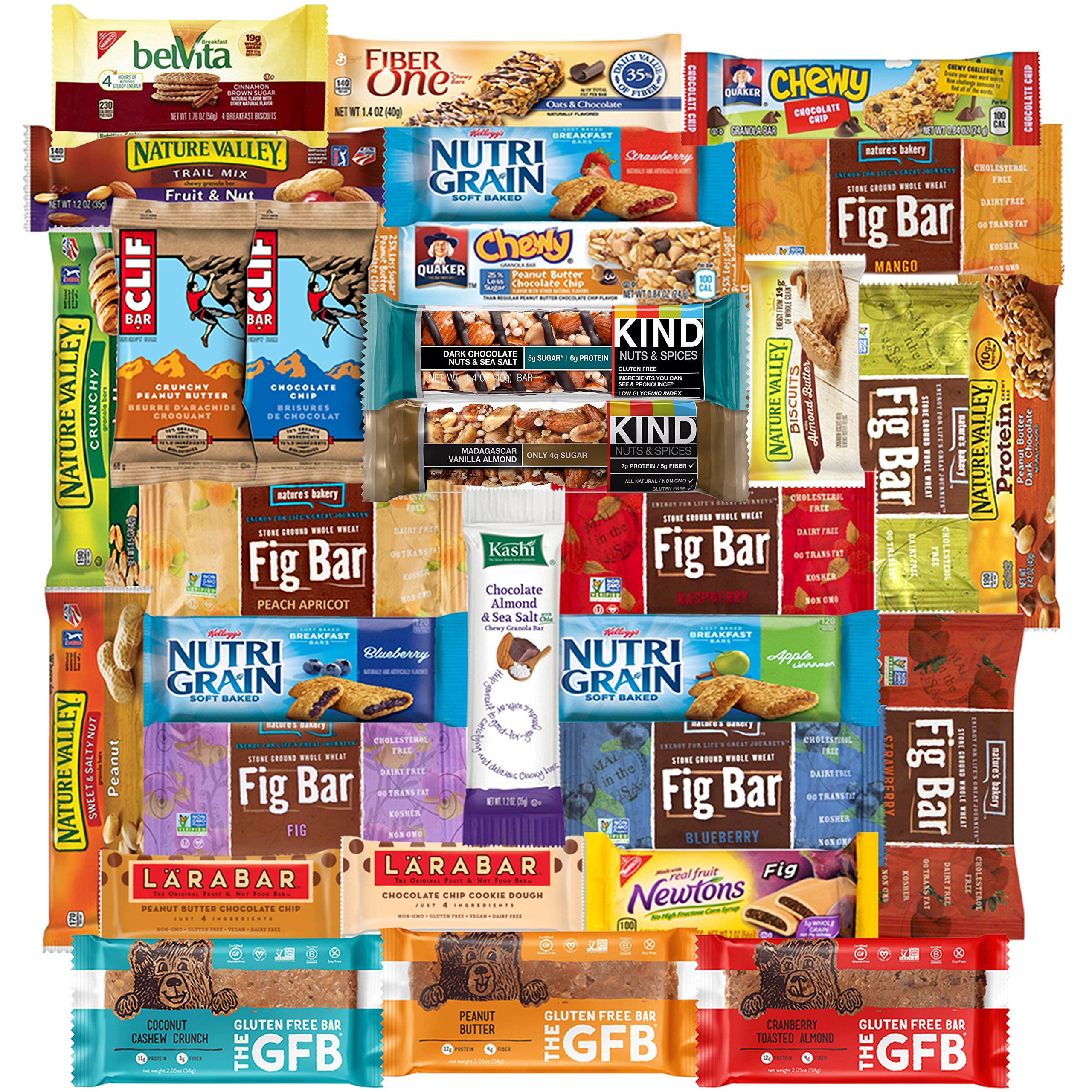 Healthy Sampler Set of Snacks, Care Package Includes Chips, Cookies, Gummies and Snack Treats (30 Count)