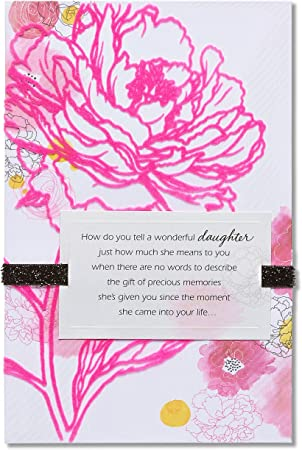 Mothers Day Card Mum Her Floral Glitter Women Greeting Fabulous Verse+Free Seal