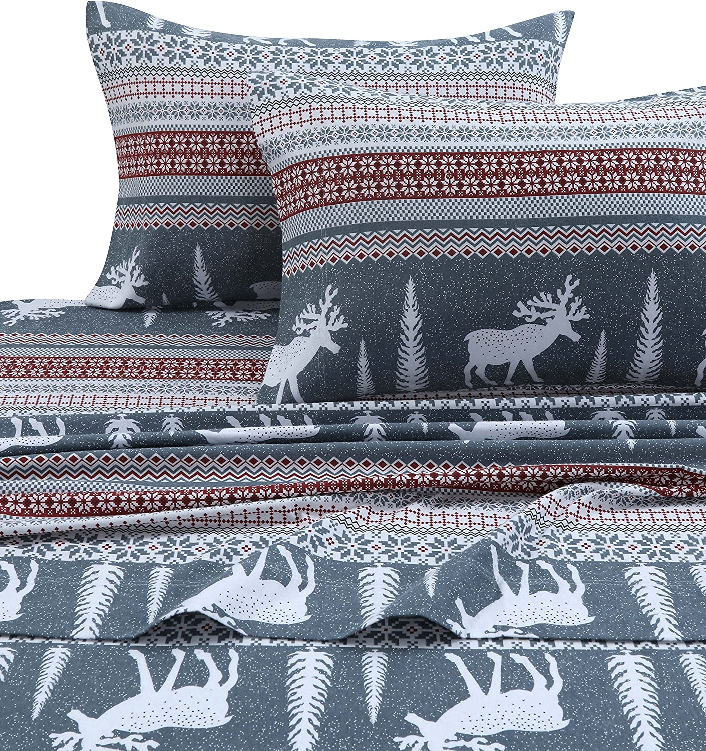 Max 56% OFF Tribeca Living WIRE170SHEETTW Winter Reindeer Deep 2021new shipping free Pocke Flannel