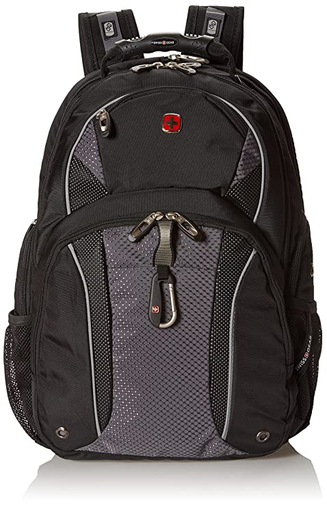 e895e50beb2a Swiss Gear SA3253 Black with Gray TSA Friendly ScanSmart Laptop Backpack -  Fits Most 15 Inch Laptops and Tablets