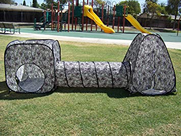 Kids Camouflage Pop Up Play Tent set with Tunnel Play Ground Room New & Amazon.com: Kids Camouflage Pop Up Play Tent set with Tunnel Play ...