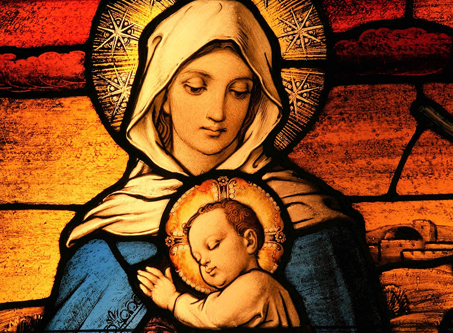 Amazon.com: FKG Adult Jigsaw Puzzle Baby Jesus And Virgin Mother Mary  500-Pieces: Toys & Games