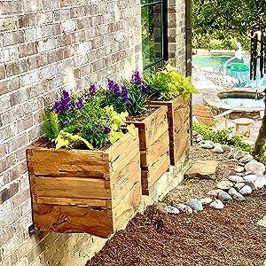 Alveare Home Side Patio Teak, Outdoor Decor, Root Planter
