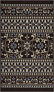 product image for Maples Rugs Zoe Kitchen Rugs Non Skid Accent Area Carpet [Made in USA], 1'8 x 2'10, Brown