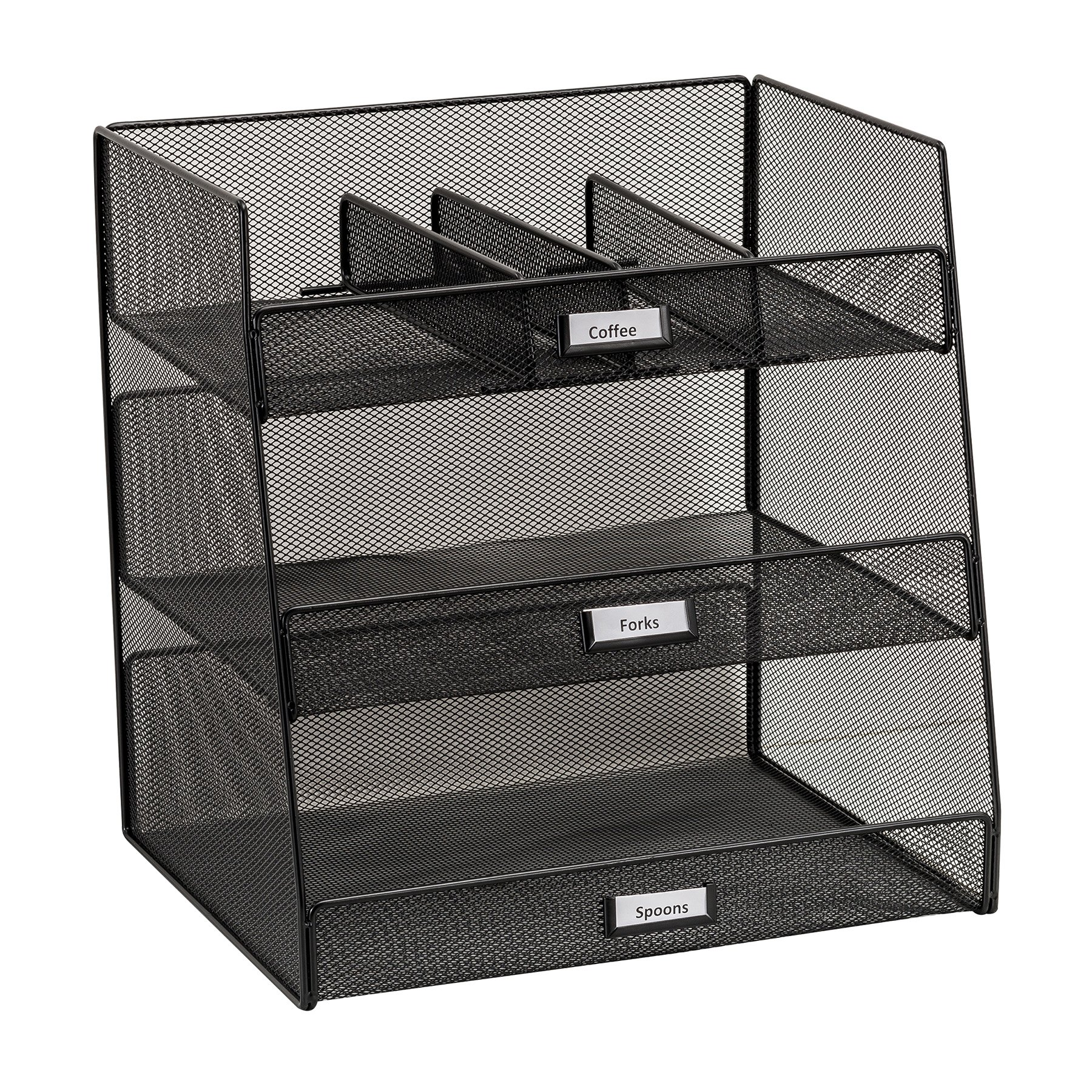 Safco Products 3293BL Onyx Mesh Break Room Supplies Organizer, Black by Safco Products