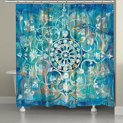 Amazon Laural Home Blue Mandala Shower Curtain Kitchen