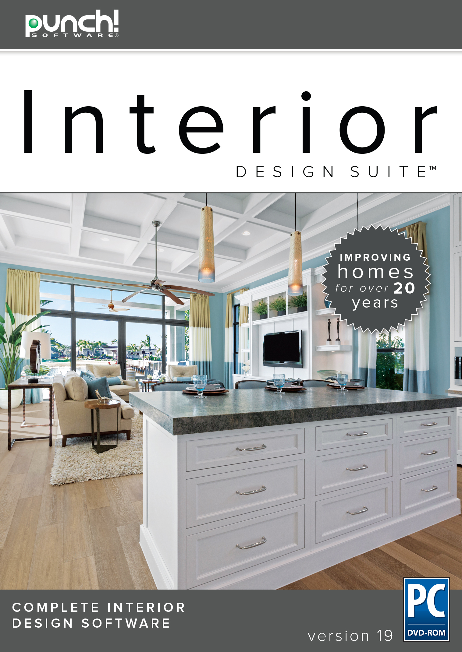 Punch! Interior Design Suite v19 - The best-selling interior home design software for Windows PC [Download] by Encore