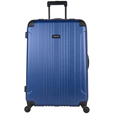 Kenneth Cole Reaction Out Of Bounds 28  Hardside 4-Wheel Spinner Lightweight Checked Luggage, Cobalt Blue
