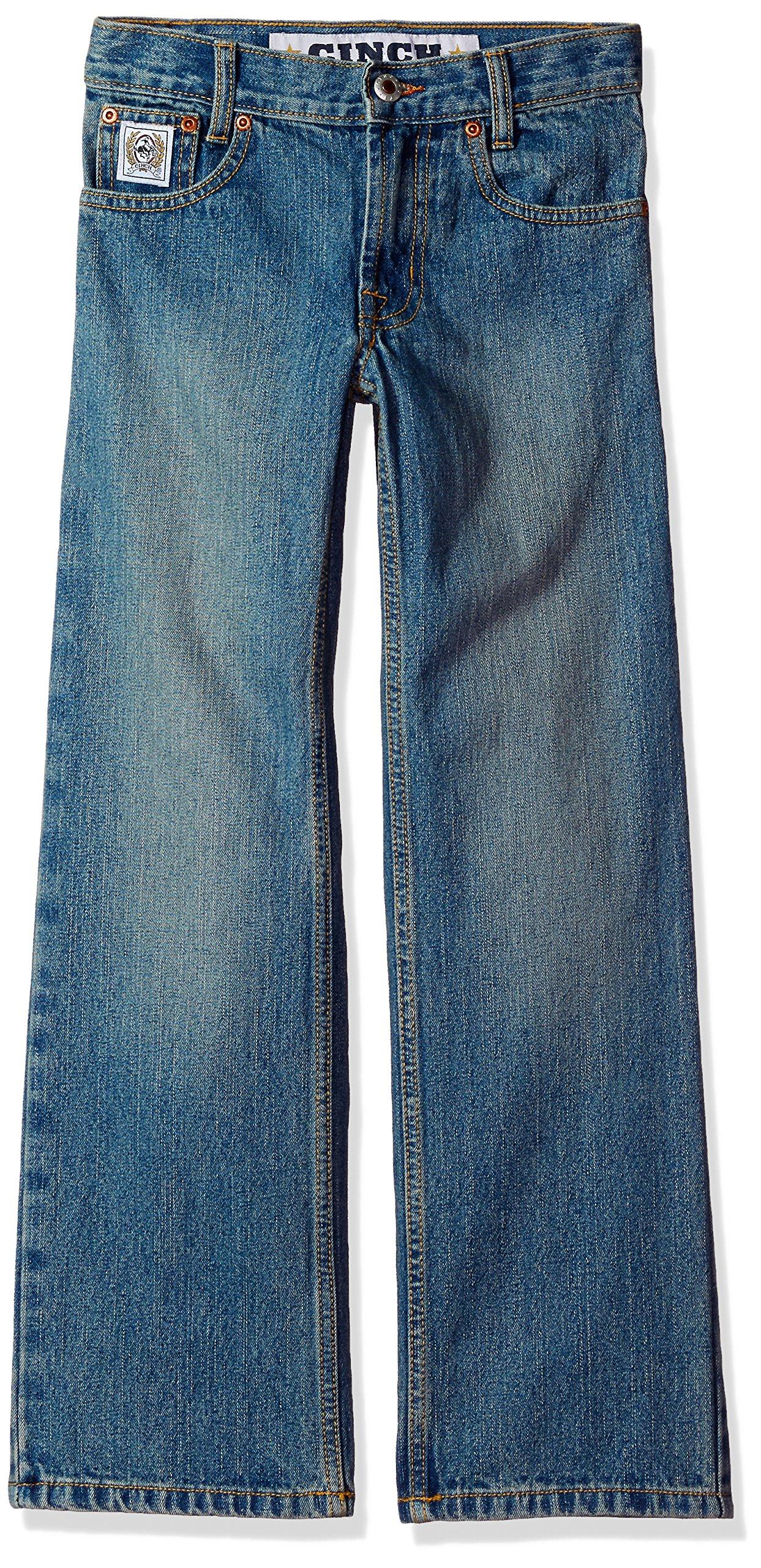Cinch Boys' Big White Label Slim Jeans, Light Stone wash, 8S