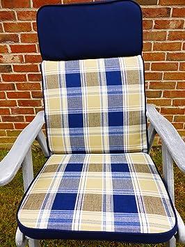 Muebles de jardín Cojines - azul de silla reclinable 3 ...