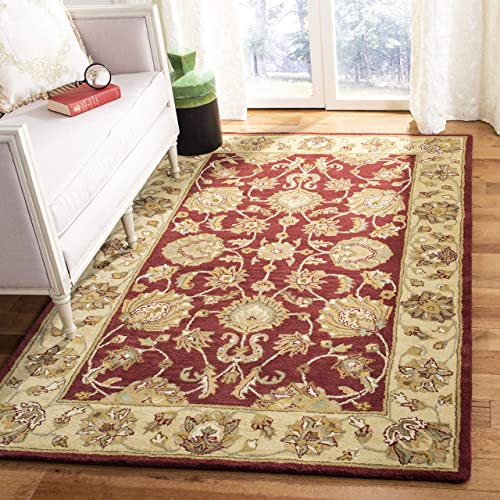 Safavieh Heritage Collection HG343C Handcrafted Traditional Oriental Red and Gold Wool Area Rug 6 x 9