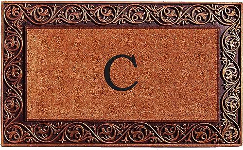 Home More 10003BRNZC Prestige Bronze Monogram Doormat Letter C