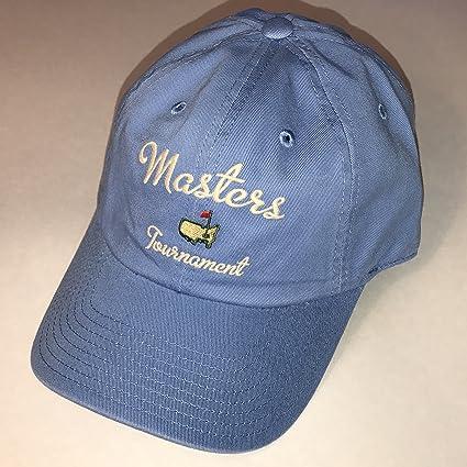 0d4e084ec81 Image Unavailable. Image not available for. Color  Masters golf hat  carolina blue script logo augusta ...
