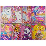 Lisa Frank 1 Subject Wide Ruled Notebook, Assorted Styles, 2 Pack