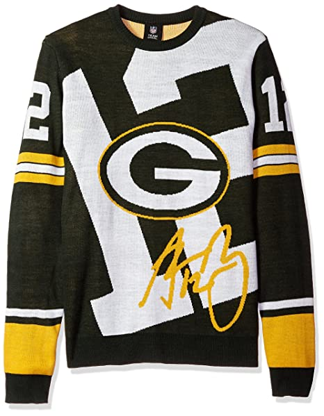 size 40 ff148 ad269 Green Bay Packers Rodgers A. #12 Loud Player Sweater - Mens Double Extra  Large