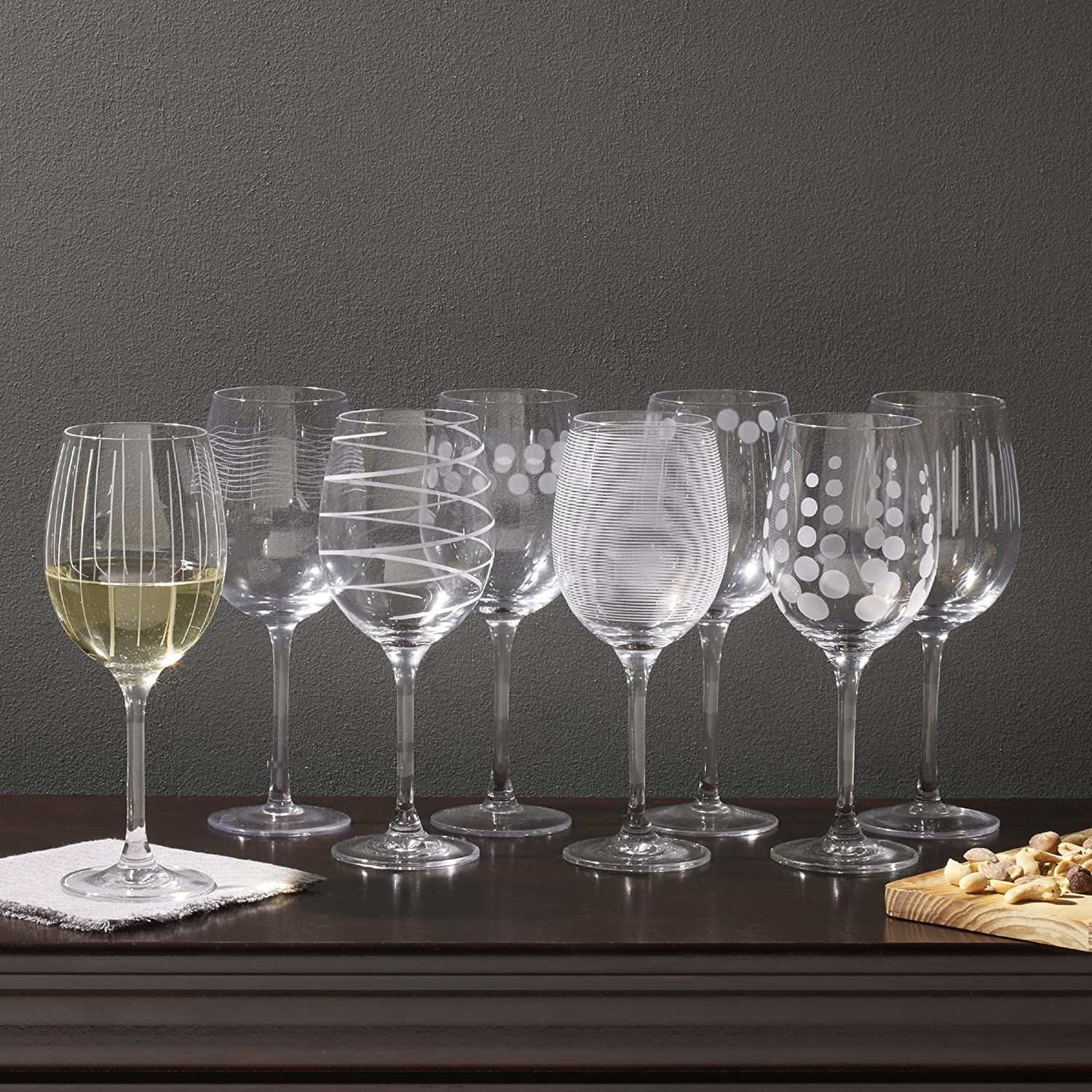 Mikasa Cheers Stemless Wine Glass 17-Ounce Set of 4